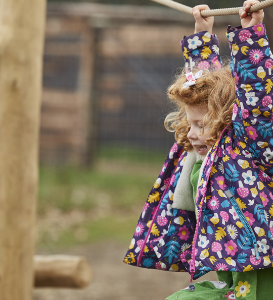A child playing in our adventure playground
