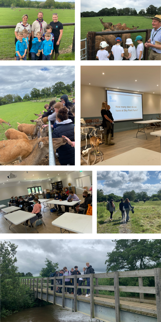 Collection of images from Educational trips held at Sky Park Farm