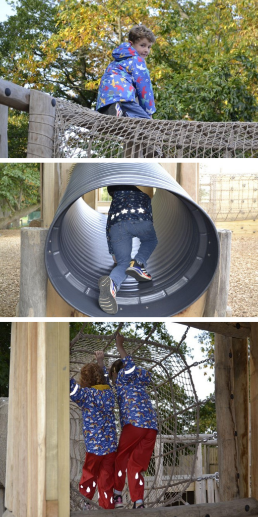 Autumn equinox - Children playing in the Adventure Playground at Sky Park Farm
